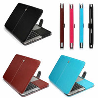Wholesale MacBook Air Pro PU Leather Case Smart Holster Protective Sleeve Bag Cover forMacBook Air Pro Retina