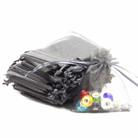 bean bag factory - 9x12cm Black Organza Jewelry Gift Packing Bags Coffee Beans Bags Gift Bag Factory Accept Custom Logo Printing