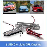 super white - LED Universal Car Light DRL Daytime Running Head Lamp Super White