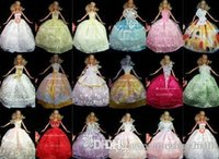 best dressed baby boy - The best gift for baby items dress shoes hangers others Party Doll s Dress Clothes Gown For Barbie doll
