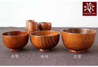 Wholesale Japanese Style Wooden Bowl Bowl for Babies Rice Bowl Small