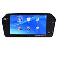 Ar Lecteurs vidéo Moniteurs voiture Hight Résolution Le plus récent 7 pouces Car TFT LCD moniteur miroir numérique avec MP5 / Bluetooth PALNTSC Parking S ...
