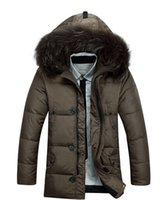 Wholesale new arrival winter fashion mens down coat size brand jeep men s white duck down jacket with Fur hood parkas