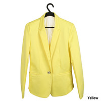 Wholesale Supply Europe and the wind candy color one button suit cultivating wild female small suit jacket