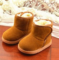 boots baby fur - Winter Boys Girls Snow Boots Shoes Classical Style Child Snow Botas Artificial Fur Lining Boots Baby Toddlers Thicken Warm Plush