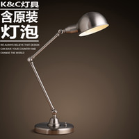 arm learning - Iron Jane European minimalist table lamp long arm folding table lamp light office work study lamp of learning