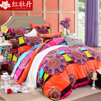 Wholesale Home textile New style Reactive Printing bedding duvet cover Bedding sheet bedspread pillowcase set D Bedding Set king size WG1480