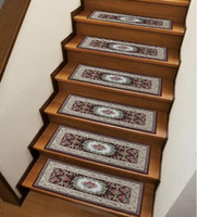 anti slip steps - Rectangular Stairs Ladder Carpets Rugs Mats Stepping Corridor Step Ladder Protection Cover Anti Slip Mat Colorful Palace patterns Airbnb
