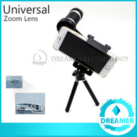 Cheap 1x Extra 8x Zoom Telephoto Phone Lens For iPhone 6 6plus 5s 5 4s 4 Samsung S6 S5 Optical Telescope Camera Kit + Mini Tripod Global Post