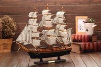 Modelo Juguetes Modelo de navegación Conjunto velero de madera del barco regalos decoraciones caseras envío libre