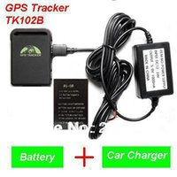 Cheap 2013 New Arrival GPS Tracker TK102B + Car charger + Battery+Retail box, Free Shipping