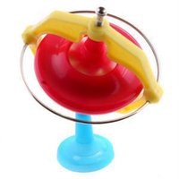 Wholesale Creative Spinning Top Toys Magic Gyroscope Toy Music With LED Music Whirling UFO Toy