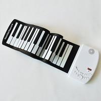 Wholesale Portable Hand Roll Piano Keys Scroll Piano Folding Soft Piano Power Supply