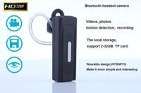 Wholesale 1pcs high quality P HD Mini earphone Camera music Bluetooth Headset hidden Video Camera DVR K8 MINI DV