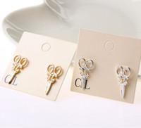 Cheap Small scissors earrings Best Alloy earrings