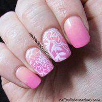 arabesque pattern - Pc Nail Art Stamp Template Charming Arabesque Cluster Flower Vine Pattern QA83