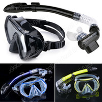 scuba diving equipment - Scuba Diving Diving Mask Snorkel Glasses Set Silicone Swimming Pool Equipment SV007079