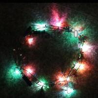 beaded pendant lights - 100 BBA4822 hotsale Led Necklace Necklaces Flashing Beaded Light Toys Christmas gift lighted necklace LED Pendant Flash Luminous necklace