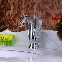 Wholesale All copper innovative new swan shaped basin faucet basin faucet basin faucet Art