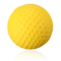 golf ball - High quality Soft Indoor Outdoor Training Practice Golf Sports Elastic PU yellow Foam Ball beginner Training Aid