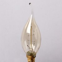 antique tail lights - E14 Edison Antique Vintage Bright Saving Efficient Pull Tail Candle Light W V C35Ta Glass Bulb Decoration