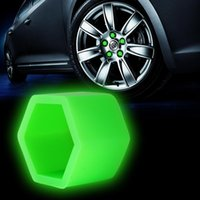 Wholesale Car Styling Silica Gel Green Wheel Nuts Covers Protective Bolt Caps Hub Screw Protector mm HA10577