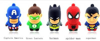 Wholesale 10pcs Captain America Green lantern batman spider man superman U disk GB GB GB GB GB USB flash drive Memory Stick Flash Pen Drive
