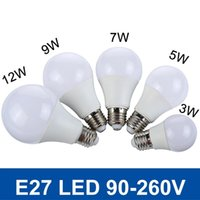 9w led - New Real Watt LED Bulb E27 W W W W W V V LED SMD5730 Fast Heat Dissipation High Bright Lampada LED Lights