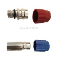 air hose nipple - Automotive Air Conditioning Pipe Fittings Aluminum Fluoride Air Conditioning Plus Liquid Nozzle Assembly Nipples Male Connector order lt no
