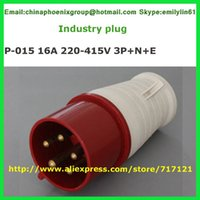 015 - Red IP44 16A 3P + N + E industrial CEE plug 5pin 1pcs Certificado CE transporte livre