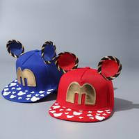 big ball mouse - Fashion Kids Cartoon Cute Mickey Baseball Hats Big Ears Mouse Snapback Hip hop Hats Childrens Sports Hats