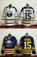 blue buffalo - 2015 Newest Men s Buffalo Sabres eichel Blue White Ice Hockey Jerseys Best Quality Low Price