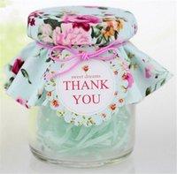 Wholesale 300pcs Transparent Glass Wedding Candy Favor Box Bottle with Vintage Floral Pattern Decoration