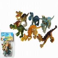 Wholesale Hot Selling SET Hard Plastic Cartoon Animal Dinosaur Figures Toy For Kid Children SETS