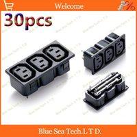 apc ups - 30pcs A V AC power socket Pin IEC320 C13 socket PDU UPS APC socket module ABS Brass CCC CE