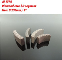 Wholesale D230mm inch M type diamond core bits segment for retipping x4 x10mm