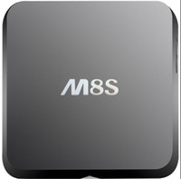 Wholesale 2015 M8S Amlogic S812 Quad Core Android TV Box Android KitKat WiFi H DLNA Miracast Airplay