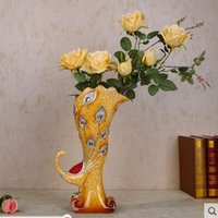 Wholesale Home Furnishing jewelry vase ornaments peacock vase support the communication transaction a price can be discussed