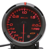 auto meter boost gauge - 2 INCH MM Auto Defi Gauge Defi BF Gauge car meter TURBO BOOST Meter Red and White Colors Light Fast Shipping