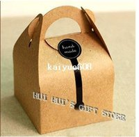 Wholesale by FEDEX single cupcake boxes gift cake kraft paper cookie boxes cake box cm cm cm
