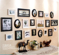 art photo collage - Art Home Decor Set Creative Combination Frame Photo Wall Set Cheap Price Black Photo Collage Frames Weight About3 kg