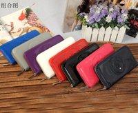 Wholesale new fashion new patent leather women wallet single zipper lady purse ajs wallet