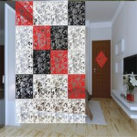 wall dividers - Chinese Style Plistic Paper cut Wall Sticker Fashion Hanging Screen Partition Home Room Divider Door Decor