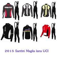 santini - 2015 santini cycling jersey long style ropa ciclismo mtb cycling clothing maillot ciclismo sport jersey cycling clothes China