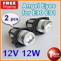 Wholesale 2 Pieces Set W W LED Marker Angel Eyes K XENON White for BMW E90 E91