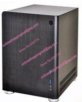 Wholesale Black Color Mini Case PC Q01 black aluminum PC Q01 ITX mini case ITX case mm mm mm New