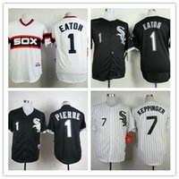 baseballs pierre - Baseball Jerseys Men WhiteSox Eaton PIERRE White Grey Jerseys stitched Top quality Mix Order More Player Free Fast Shipping