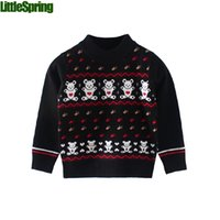 Wholesale boys character sweaters autumn and winter long sleeve clothes bears cartoon toddler boys clothing