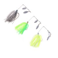crappie jigs - 3Colors g Sea Fishing Lure Spinnerbait Fresh Water Shallow Water Bass Walleye Crappie Minnow Fishing Tackle with Jig Hook