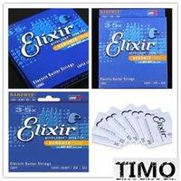 Guitares à cordes de super Avis-Elixir12000 12077 12052 Cordes pour guitare électrique légère Super Light ELIXIR 12102